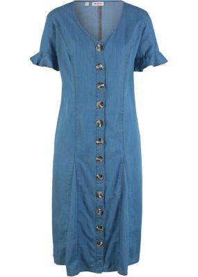 Платье из денима, короткий рукав