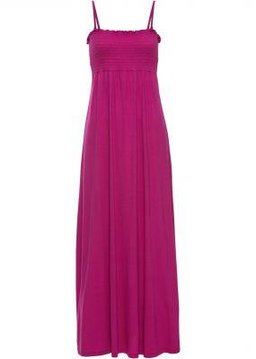 Платье в пол с присобранным лифом