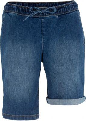 Бермуды джинсовые на резинке