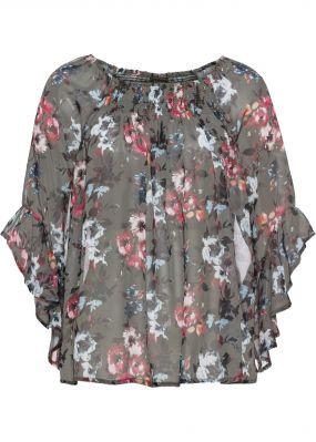 Блузка с вырезом-кармен