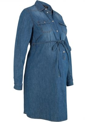 Платье из хлопка для будущих и кормящих мам