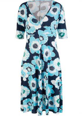 Платье с эффектом запаха, короткий рукав
