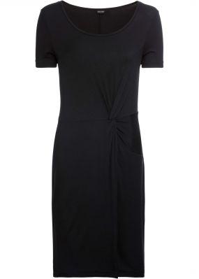Платье с декоративным узлом, трикотаж