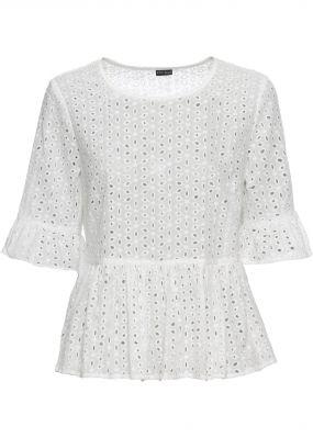 Блузка кружевная с баской