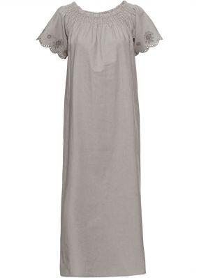 Платье с широким вырезом горловины