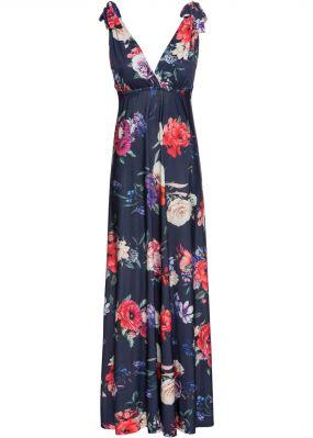 Платье макси с цветочным узором