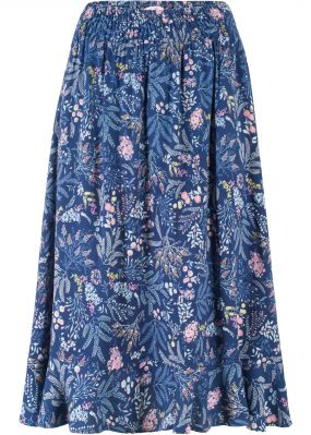 Пёстрая юбка с воланом