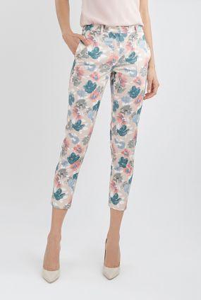Укороченные брюки с цветочным принтом
