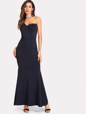 Сложите платье с фиолетовым хвостом