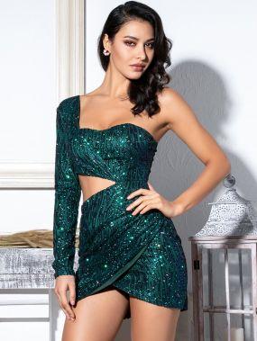 LOVE&LEMONADE облегающее платье-мини на одно плечо