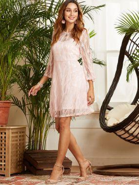 SBetro Кружевное платье с подкладкой