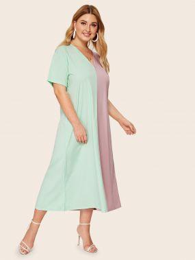 Повседневные Многихцветные Платья размера плюс