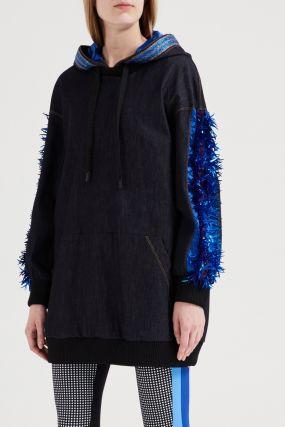Комбинированная куртка-анорак