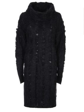 Платье с воротом-хомутом