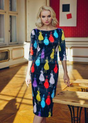 Вечернее платье-футляр  миди-длины MR005B