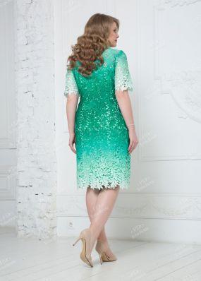 Кружевное платье с эффектом деграде ND136B