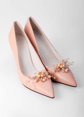 Туфли цвета пыльной розы с брошью TBB004-19SH
