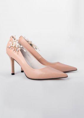 Классические туфли-лодочки с брошью TBB002-14SH