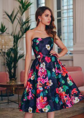 Коктейльное платье с пышной юбкой RB049B