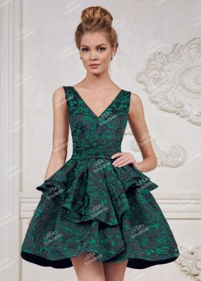 Вечернее платье с открытыми плечами и спиной TB018B