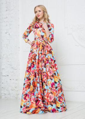 Закрытое платье из атласа ND146B