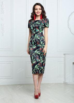Коктейльное платье-футляр миди-длины MR006B