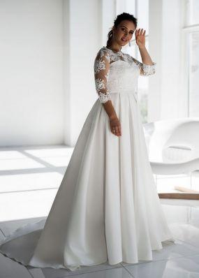 Свадебное платье с рукавом 3/4 SDV022