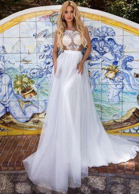 Свадебное платье с фатиновой юбкой SDV008