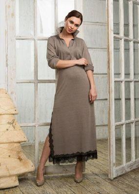 Прямое платье-рубашка PNB027