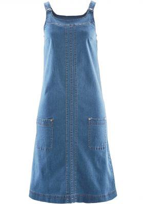 Джинсовое платье-сарафан стретч