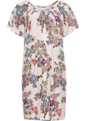 Платье из трикотажа с цветочным принтом