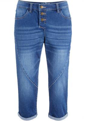 Укороченные джинсы стретч в стиле бойфренда