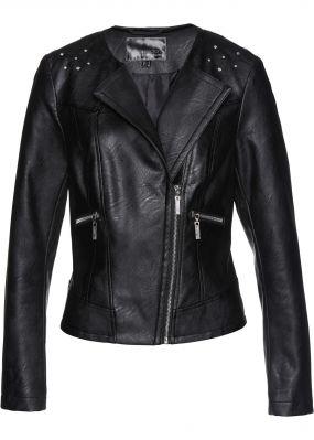 Куртка из кожзаменителя с кристаллами Swarovski®