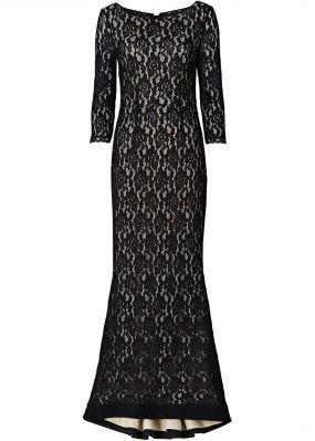 Кружевное макси-платье