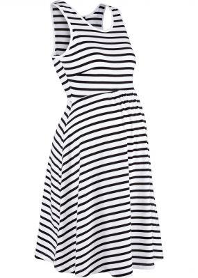 Платье для беременных, дизайн в полоску
