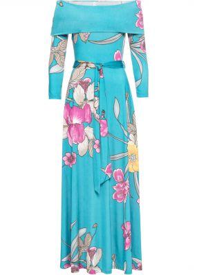 Платье с вырезом-кармен