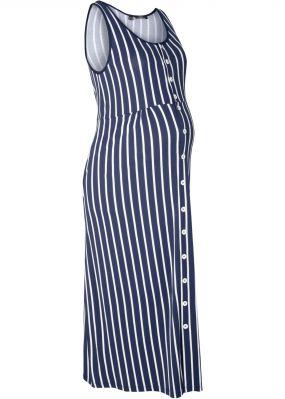 Платье в полоску для будущих и кормящих мам