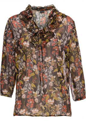 Блузка прозрачная с люрексом