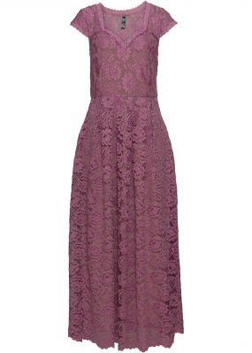 Кружевное платье макси