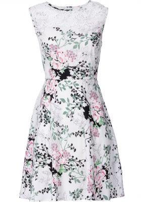 Платье с кружевной кокеткой