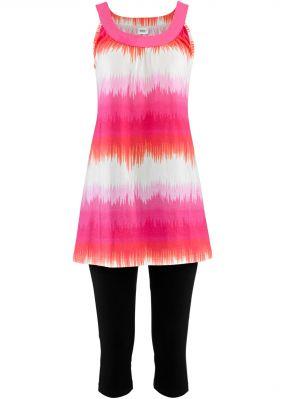 Платье мини + леггинсы капри