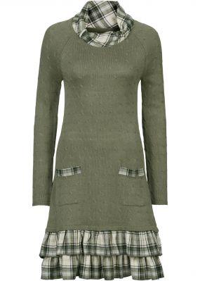 Вязаное платье с эффектом многослойности