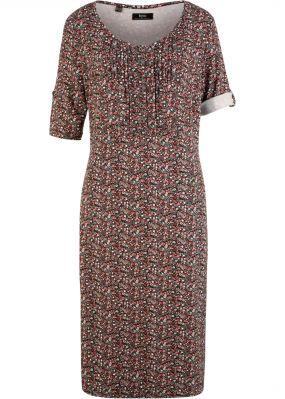 Платье свободного кроя с декоративными складками