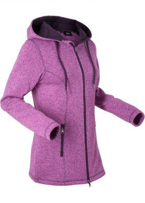 Вязаная флисовая куртка
