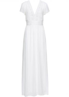 Платье макси с кружевом