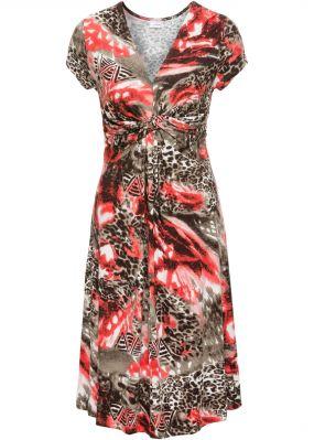 Трикотажное платье с драпировкой под грудью