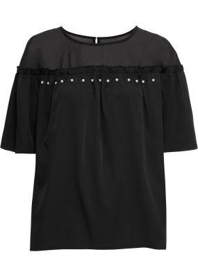 Блузка с прозрачной вставкой