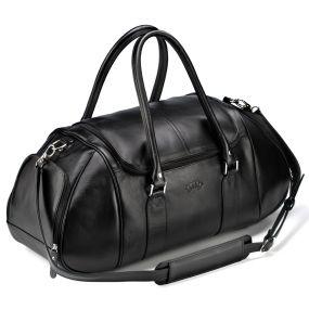 Кожаная дорожно-спортивная сумка