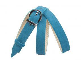 Кожаный ремень DZ20-03 (голубой)