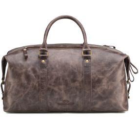 Кожаная дорожно-спортивная сумка Англия (тёмно-коричневый антик)